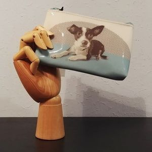 NEW! Modern Zip Pouch Etched Dog by Catseye London